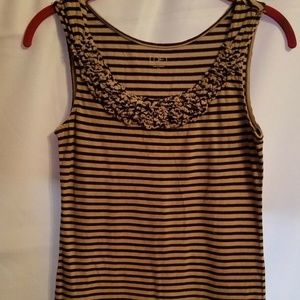 Ann Taylor LOFT Womens XS Ruffled Tank Top